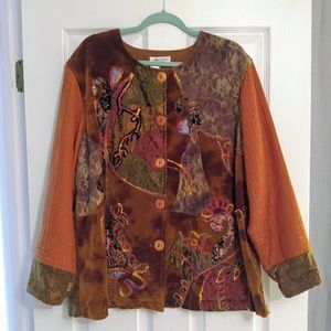 Vintage Plus Coldwater Creek Embroided Jacket